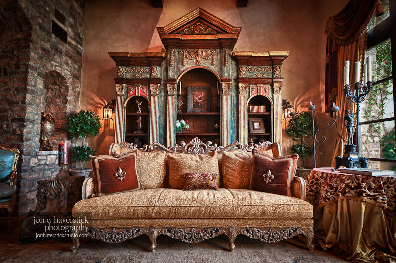 For. Shooting the Castle   Old World Chateau Style Furniture Photography