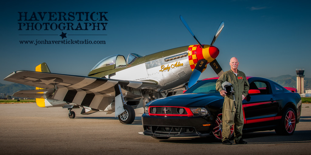 P-51 and Ford 302 BOSS Mustangs