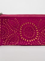 product photography -  clutch purse on white background