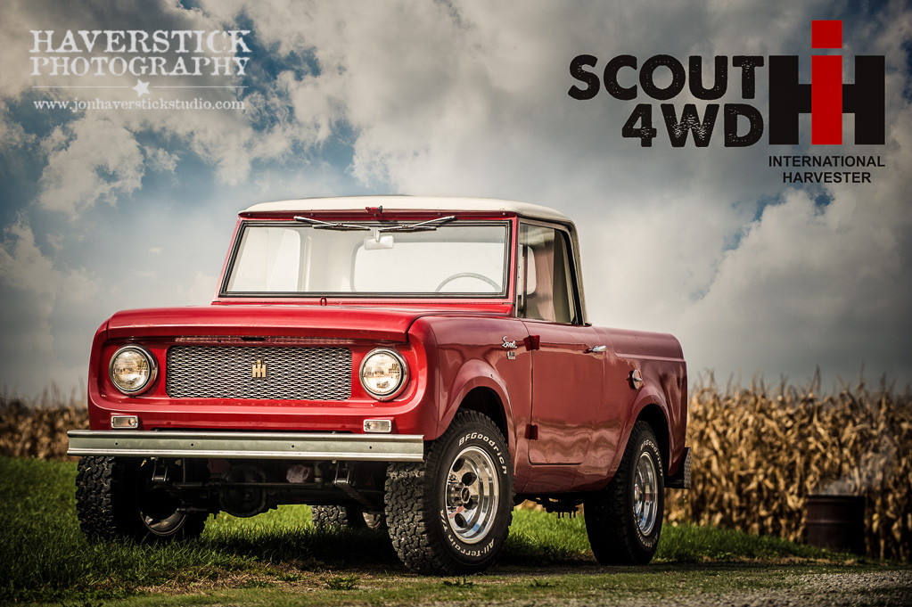 Photographing the 1962 IH Scout 80 4WD