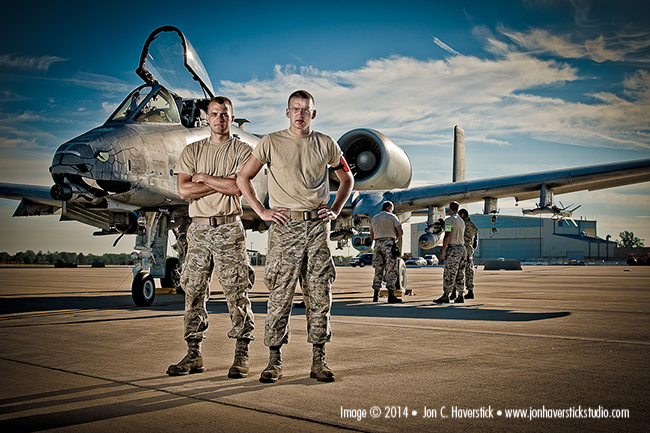 HHS portrait of USAF A10 Mechanics